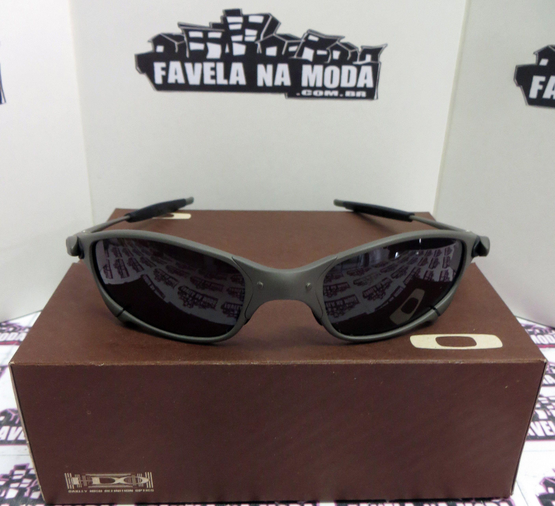 4fa7a70e19e3e Óculos Oakley Juliet - X-Metal   Black   Borrachinhas Pretas
